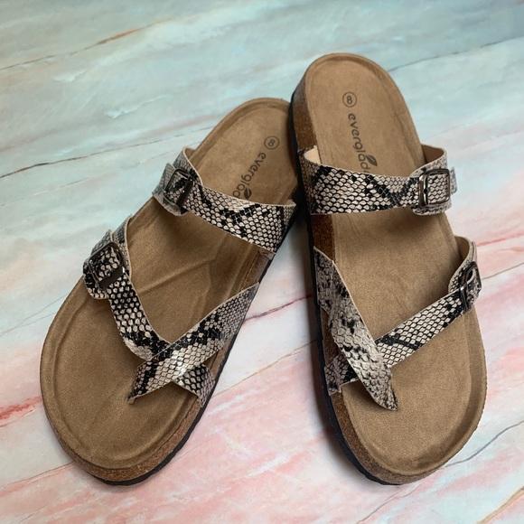 Snake Skin Birkenstock Style Sandals Boutique